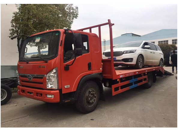3 Ton Dongfeng Low Bed Loading Excavator Loader Trailer Truck