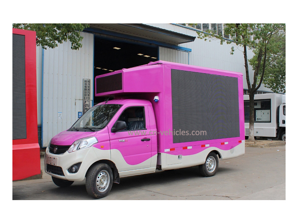 Foton Outdoor Advertising Mobile LED Sign Vehicle for Export