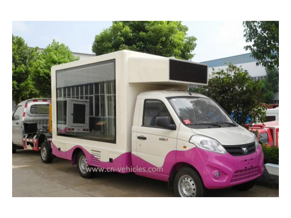 Foton 2 Side or 3 Side Mobile Advertising Screen Display Truck for Sales