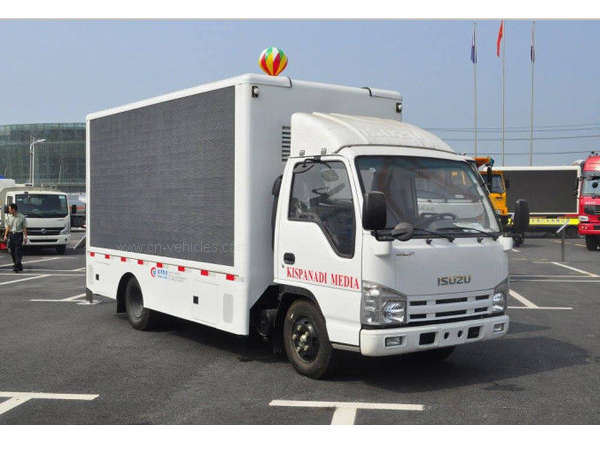 ISUZU Outdoor Digital Advertising Billboard Truck With P6 LED Display Screen