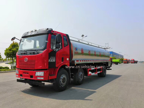 FAW 8000 Liters Stainless Steel Milk Tanker Truck for Sales