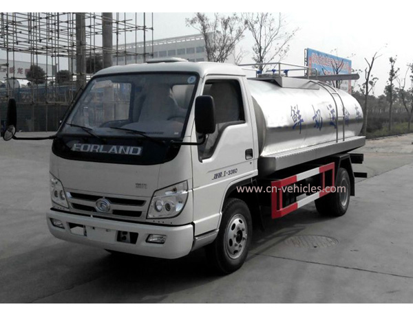 Forland 4000 Liters Road Milk Tanker for Sales