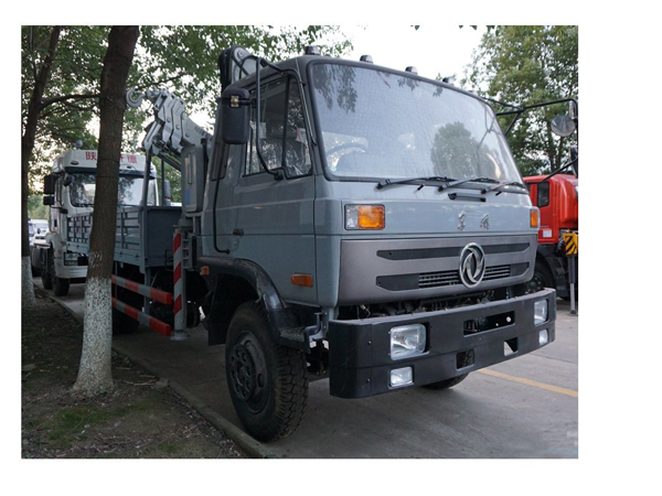 Dongfeng 3.5 Ton Folding Crane Truck for Sale