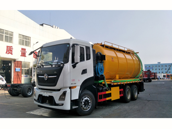 Dongfeng Cummis Engine 22cbm Septic Sewer Truck  With Vacuum Tanker For Sale