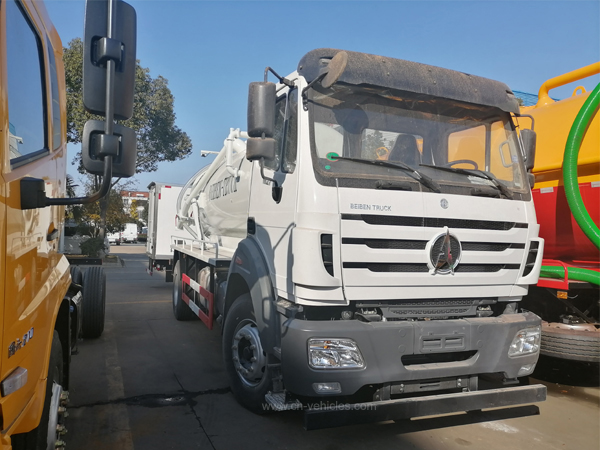 BEIBEN North Benz 8cbm To 12cbm Cubic Meter Vacuum Sewage Suction Truck Septic Tanker Truck Based on Mercedes Benz technology